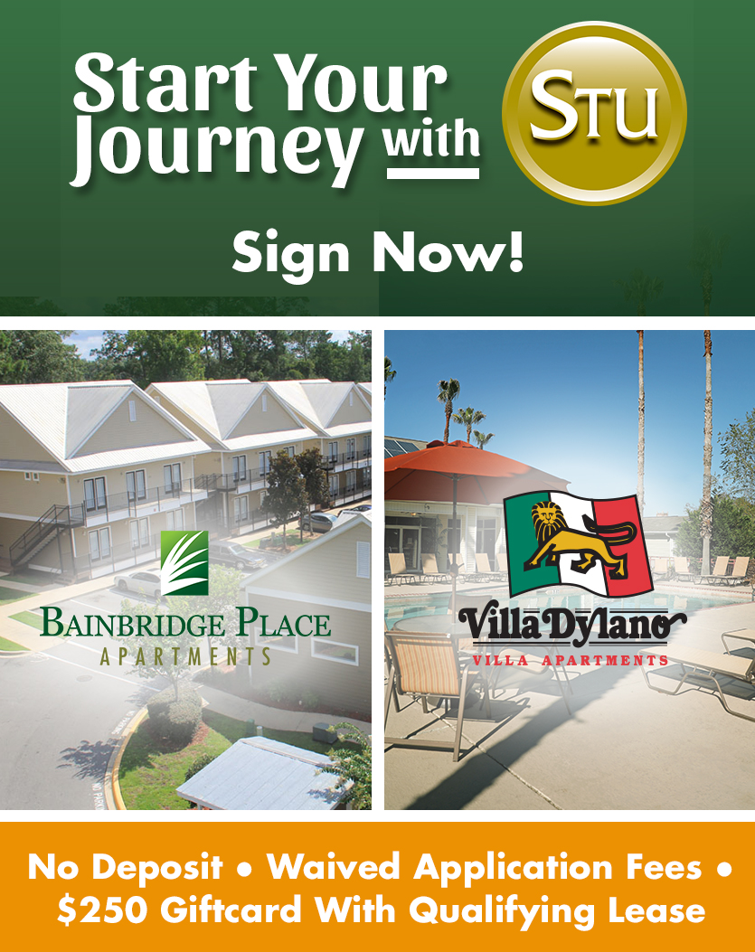 Start Your Journey with STU! Looking for a place for Fall? STU has you covered! We've got affordable rent and immediate move-in available. Call or stop by our leasing center today!