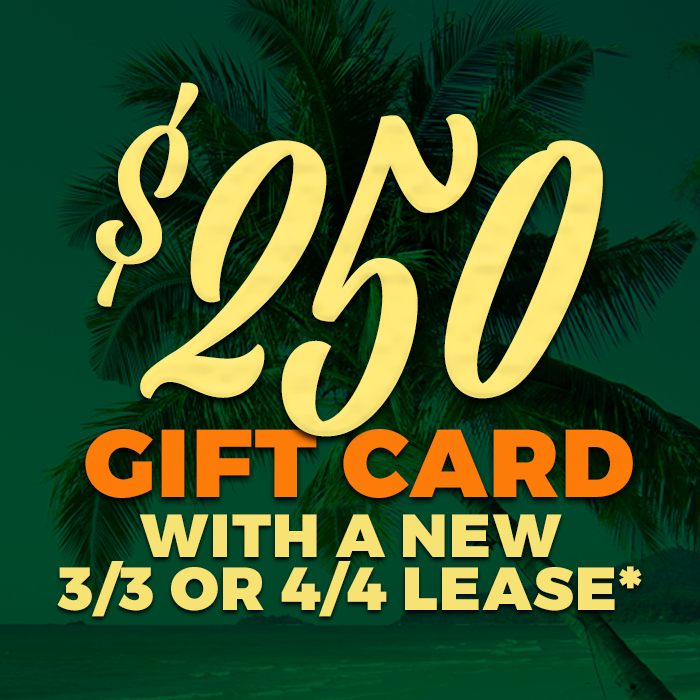 $250 Gift Card with a new 3/3/ or 4/4/ lease